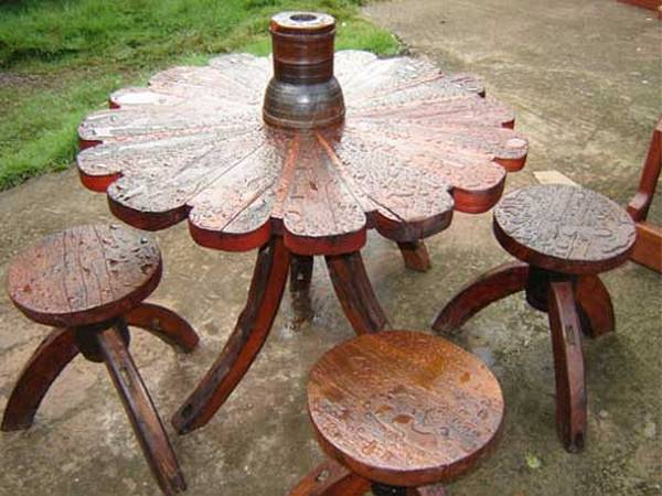 Мебель для дачи из дерева своими руками видео 5