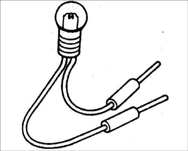 Как собрать контрольную лампу электрика? с фото