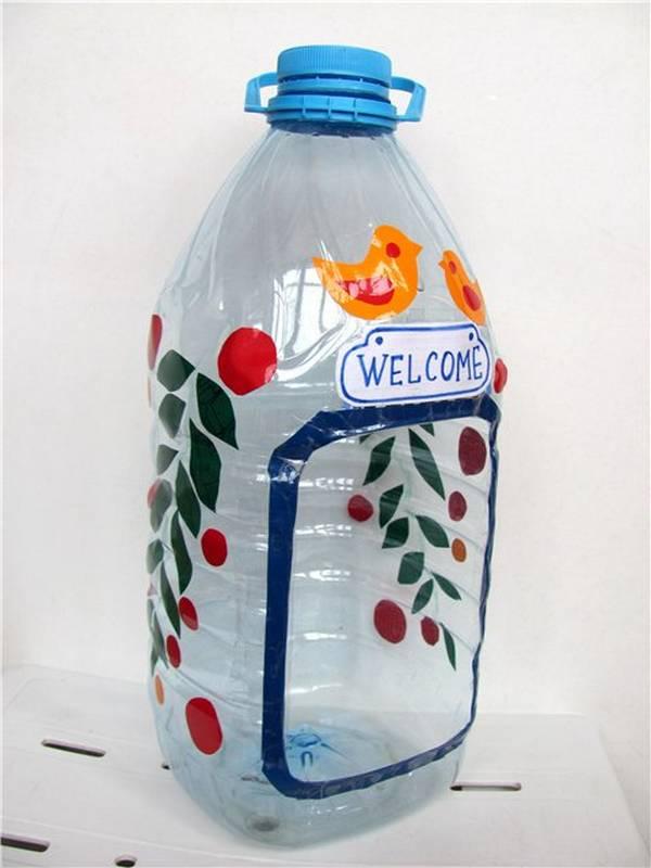 Как сделать кормушку с 5-ти литровой бутылки