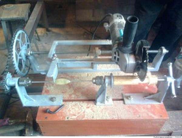 Станок деревообрабатывающий из болгарки своими руками